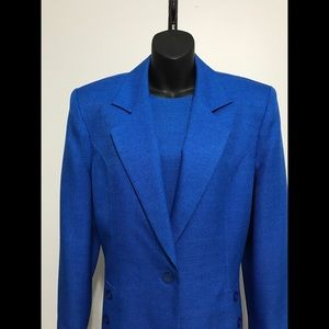 EUC Vintage Henry Lee Royal Blue Dress Suit!